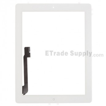For Apple iPad 4 Digitizer Touch Screen Assembly Replacement (Wifi Version) - White - Grade S
