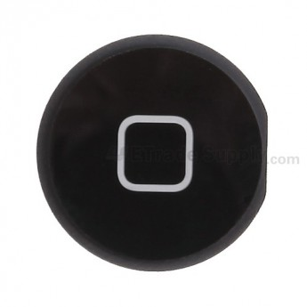 For Apple iPad 4 Home Button Replacement - Black - Grade S+