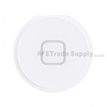 For Apple iPad 4 Home Button Replacement - White - Grade S+