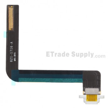 For Apple iPad Air Charging Port Flex Cable Ribbon  Replacement - White - Grade S+