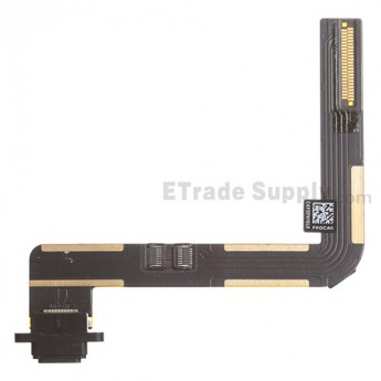 For Apple iPad Air Charging Port Flex Cable Ribbon  Replacement - Black - Grade S+