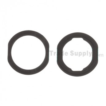 For Apple iPad Air Home Button Rubber Gasket Replacement (2 pcs/set) - Black - Grade S+
