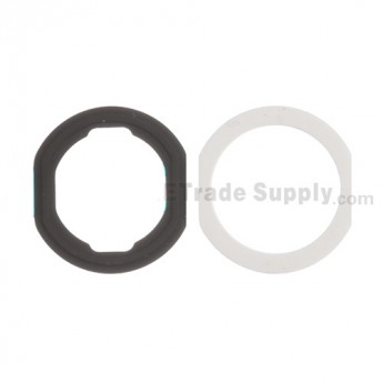 For Apple iPad Air Home Button Rubber Gasket Replacement (2 pcs/set) - White - Grade S+