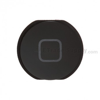 For Apple iPad Mini Home Button Replacement - Black - Grade S+