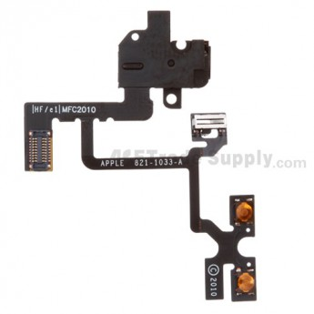 For Apple iPhone 4 Audio Flex Cable Ribbon Replacement (AT&T) - Black - Grade S+