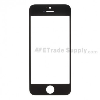 For Apple iPhone 5 Glass Lens Replacement - Black - Grade S+