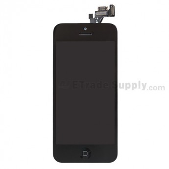 For Apple iPhone 5 LCD Screen and Digitizer Assembly with Frame and Home Button Replacement - Black - Grade S