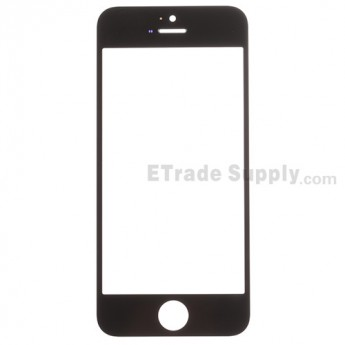 For Apple iPhone 5C Glass Lens Replacement - Black - Grade S+