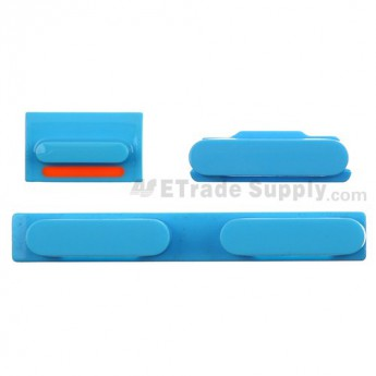 For Apple iPhone 5C Side Keys Replacement - Blue - Grade S+