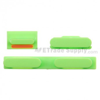 For Apple iPhone 5C Side Keys Replacement - Green - Grade S+
