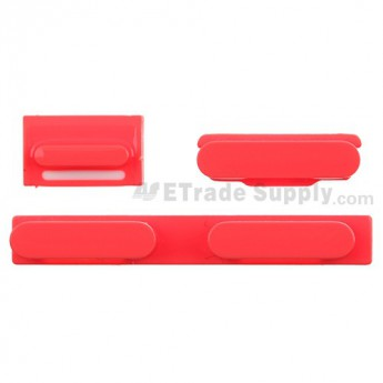 For Apple iPhone 5C Side Keys Replacement - Red - Grade S+