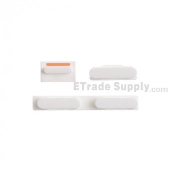 For Apple iPhone 5C Side Keys Replacement - White - Grade S+