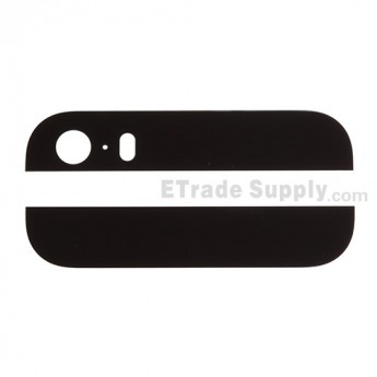 For Apple iPhone 5S Top and Bottom Glass Cover Replacement - Black - Grade S+