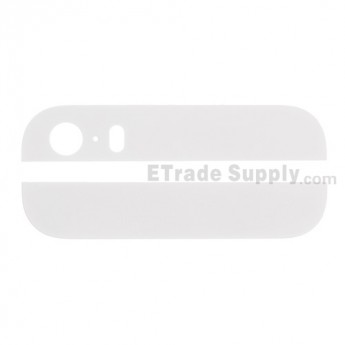 For Apple iPhone 5S Battery Door Top and Bottom Glass Cover Replacement - White - Grade S+