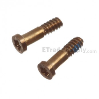 For Apple iPhone 5S Charging Port Screws Replacement (2 pcs/set) - Gold - Grade S+