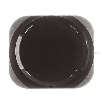 For Apple iPhone 5S Home Button Replacement - Black - Grade S+