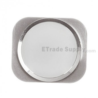 For Apple iPhone 5S Home Button Replacement - White - Grade S+