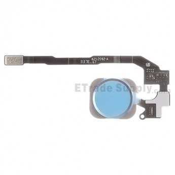 For Apple iPhone 5S/SE Home Button Assembly with Flex Cable Ribbon Replacement - White - Grade S+