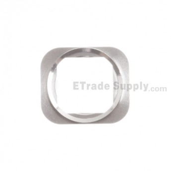 For Apple iPhone 5S Home Button Metal Bracket Replacement - Silver - Grade S+