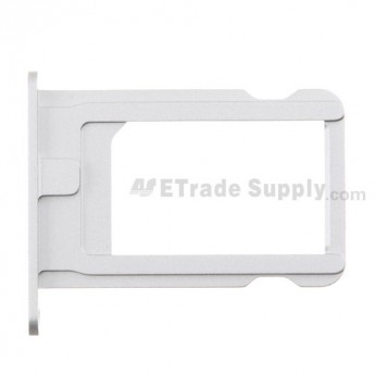 For Apple iPhone 5S/SE SIM Card Tray Replacement - Silver - Grade S+