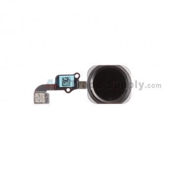 For Apple iPhone 6/iPhone 6 Plus Home Button Assembly with Flex Cable Ribbon Replacement - Black - Grade S+
