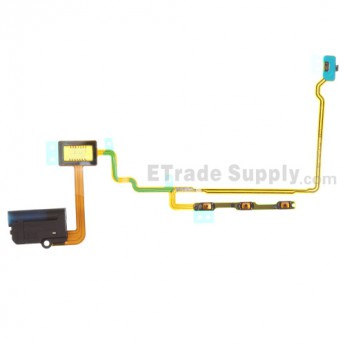 For Apple iPod Nano Gen 7 Audio Flex Cable Ribbon  Replacement - Black - Grade S+