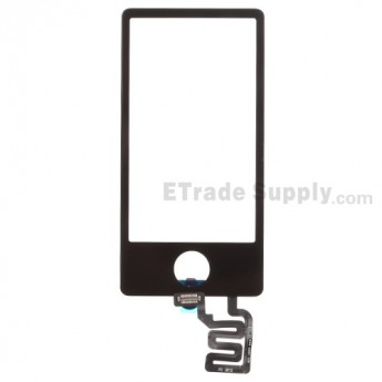For Apple iPod Nano Gen 7 Digitizer Touch Screen Replacement - Black - Grade S+