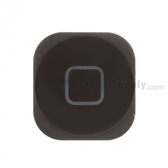 For Apple iPod Touch 5th Home Button Replacement - Black - Grade S+