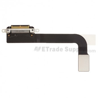 For Apple iPad 3 Charging Port Flex Cable Ribbon Replacement - Black - Grade S+