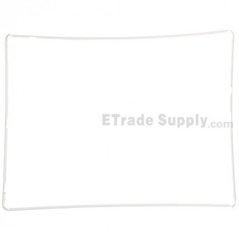 For Apple iPad 3 Digitizer Frame with Adhesive Replacement - White - Grade S+