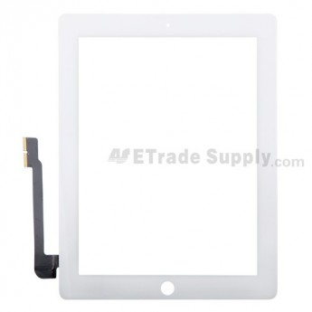 For Apple iPad 3 Digitizer Touch Screen Replacement - White - Grade A