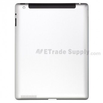 For Apple iPad 3 Rear Housing Assembly  Replacement (Wifi+Cellular) - With White Frame - without Logo- Grade R