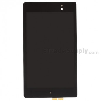 For Asus Google Nexus 7 (2013) LCD Screen and Digitizer Assembly Replacement - Black - Grade S+
