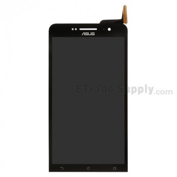 For Asus Zenfone 6 A600CG LCD Screen and Digitizer Assembly Replacement - Black - With Logo - Grade S+
