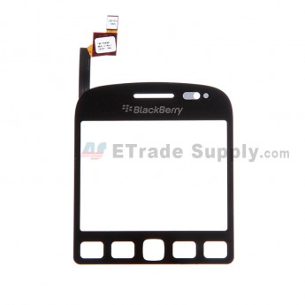 For BlackBerry 9720 Digitizer Touch Screen Replacement - Black - With Logo - Grade S+
