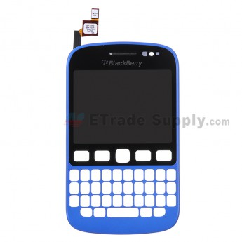 For BlackBerry 9720 Digitizer Touch Screen with Front Housing Replacement - Blue - Grade S+