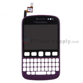 For BlackBerry 9720 Digitizer Touch Screen with Front Housing Replacement - Purple - Grade S+