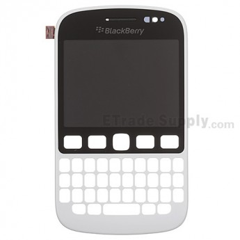 For BlackBerry 9720 LCD Screen and Digitizer Assembly with Front Housing  Replacement - White - Grade S+