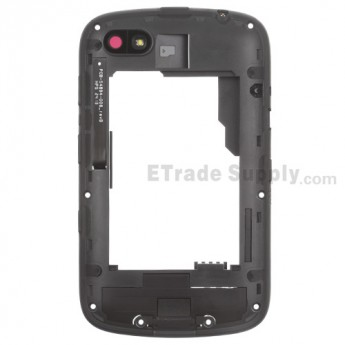 For BlackBerry 9720 Middle Plate Assembly Replacement - Black - Grade S+
