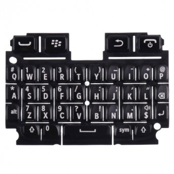 For Blackberry 9720 QWERTY Keypad Replacement - Black - Grade S+