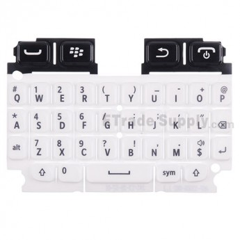 For Blackberry 9720 QWERTY Keypad Replacement - White - Grade S+