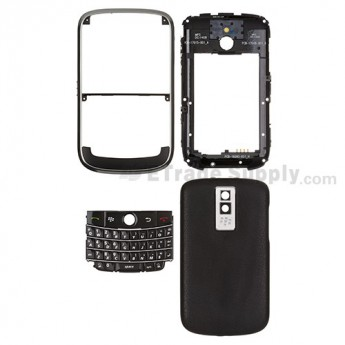 For BlackBerry Bold 9000 Complete Housing Replacement - Black - Grade S+