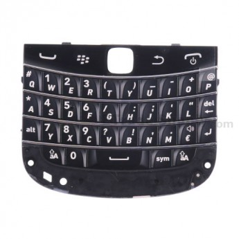 For BlackBerry Bold Touch 9900, 9930 QWERTZ Keypad Replacement - Black - Grade S+