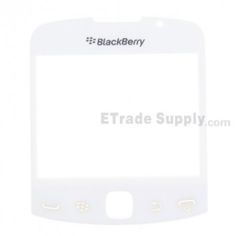 For BlackBerry Curve 3G 9300 Glass Lens Replacement ,White - Grade S+
