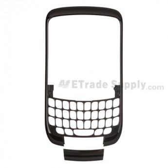 For BlackBerry Curve 8520, 8530 Front Housing and Bottom Cover Replacement ,Black - Grade S+