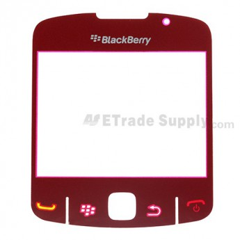 For BlackBerry Curve 8520, 8530 Glass Lens with Adhesive Replacement ,Red - Grade S+