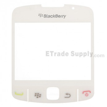 For BlackBerry Curve 8520, 8530 Glass Lens with Adhesive Replacement - White - Grade A