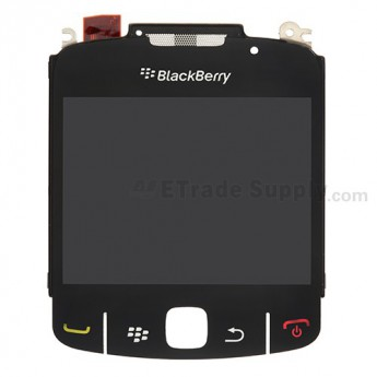 For BlackBerry Curve 8520, 8530 LCD Screen with Metal Frame and Glass Lens Replacement (11059-010/113/114) - Grade S+