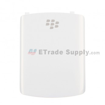 For BlackBerry Curve 8520 Battery Door Replacement - White - Grade S+