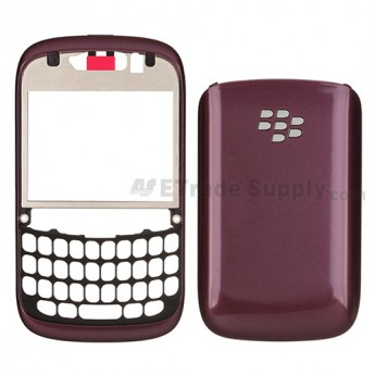 For BlackBerry Curve 9220 Front Housing and Battery Door  Replacement ,Dark Purple - Grade S+